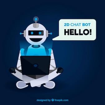 Fondo de concepto chatbot con robot