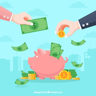 Fondo de concepto de negocio con dinero
