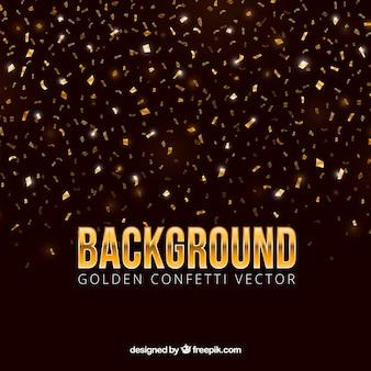 Fondo de confetti en estilo dorado