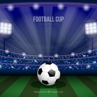 Fondo de copa mundial de fútbol con campo