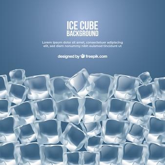 Fondo de cubo de hielo en estilo realista