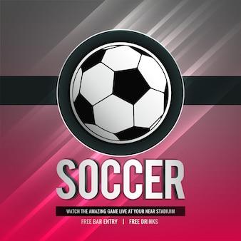 Fondo de deportes con estilo brillante torneo de fútbol