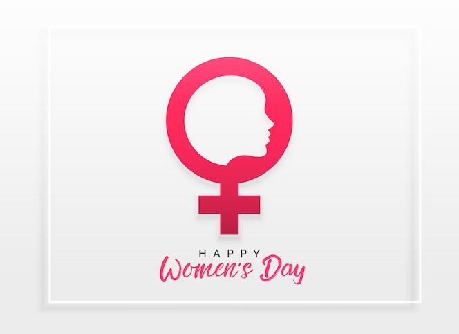 Fondo de diseño de concepto de celebración de día feliz de las mujeres