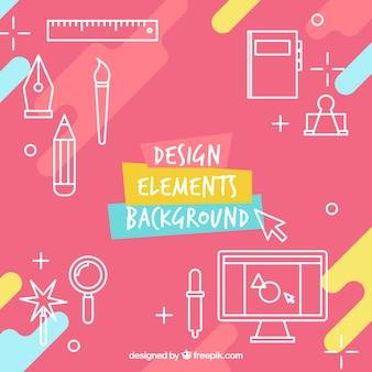 Fondo de diseño de elementos