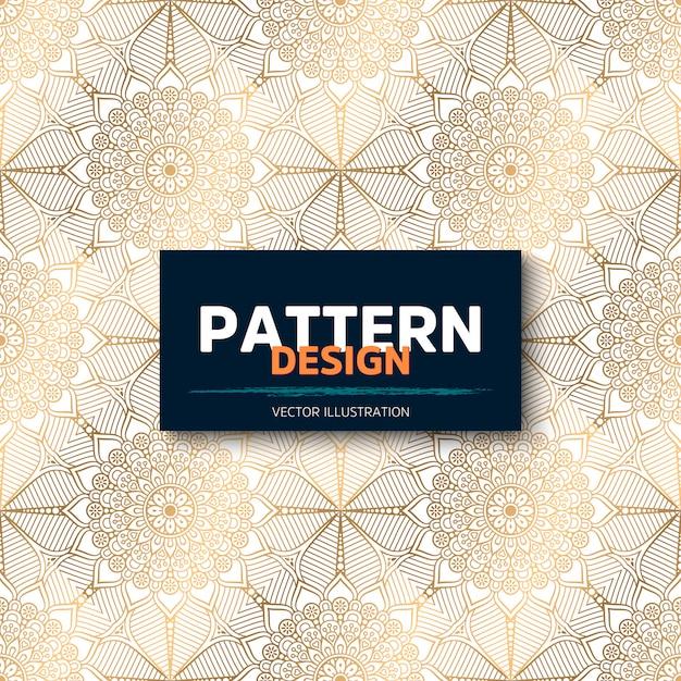 Fondo de diseño de mandala ornamental de lujo en vector de color oro