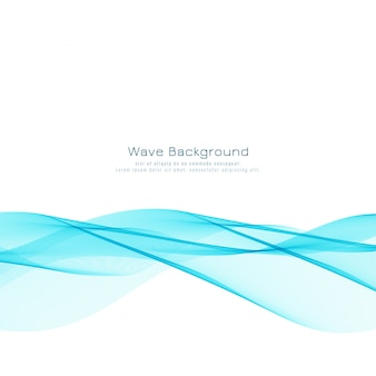 Fondo de diseño de onda azul elegante abstracto