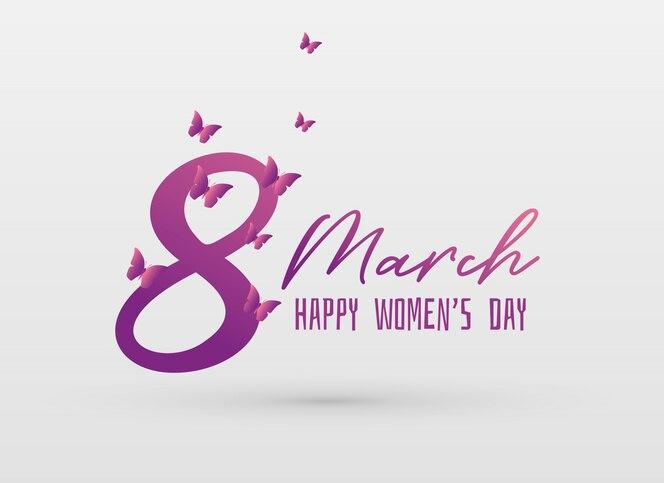 Fondo de diseño de tarjeta de greeing día de la mujer feliz