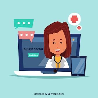 Fondo de doctor en línea