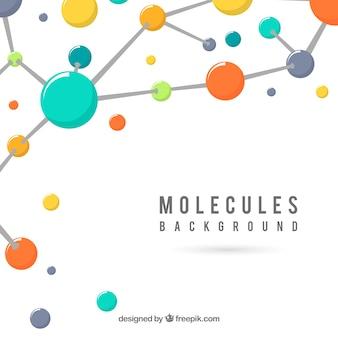 Fondo de estructuras moleculares