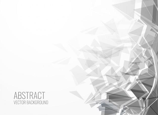 Fondo de explosión de forma de triángulo abstracto