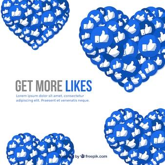 Fondo de facebook con icono de me gusta