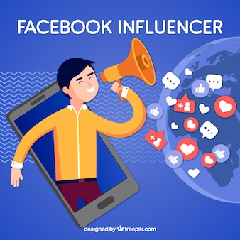 Fondo de facebook influencer