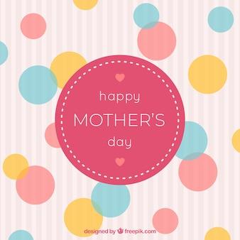 Fondo de feliz día de la madre con familia
