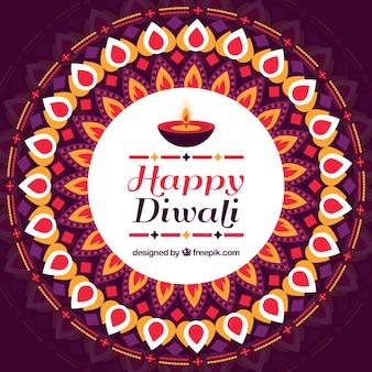 Fondo de feliz diwali geométrico decorativo