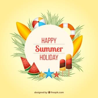 Fondo de feliz verano