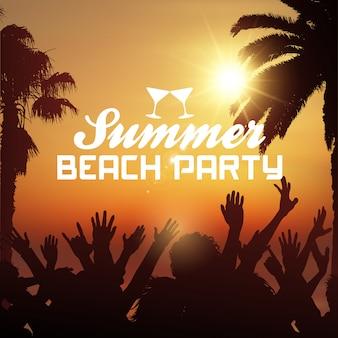 Fondo de fiesta de playa de verano