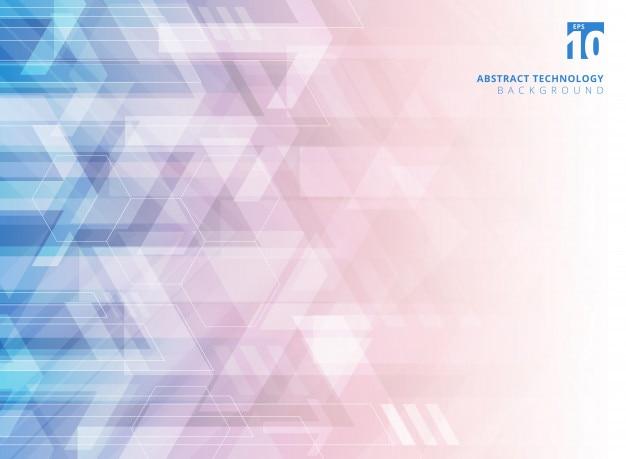 Fondo de flechas corporativas geométricas de tecnología abstracta.