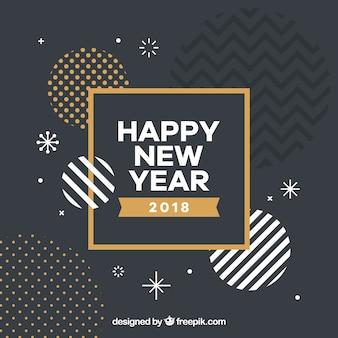 Fondo de formas abstractas de año nuevo