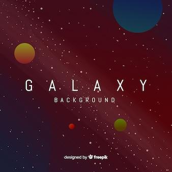 Fondo de galaxia adorable con diseño plano