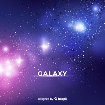 Fondo de galaxia con diseño realista