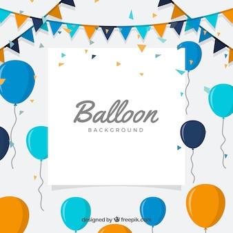 Fondo de globos de cumpleaños para celebrar