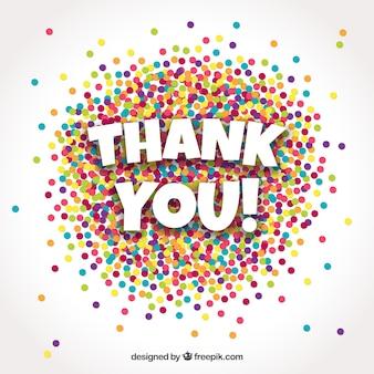 Fondo de gracias con confetti colorido