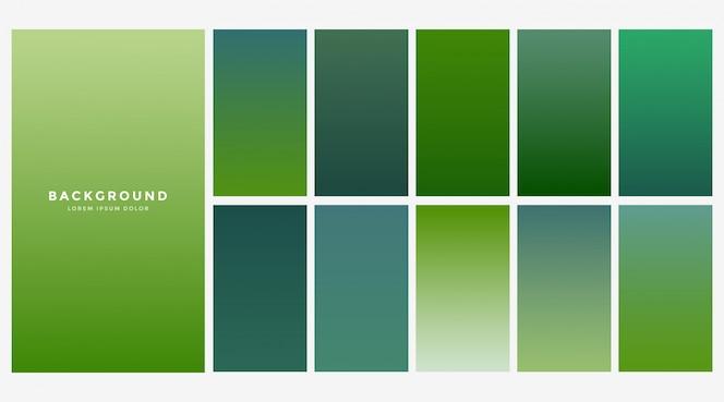 Fondo de gradientes de eco verde fresco