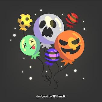 Fondo de halloween con diferentes globos