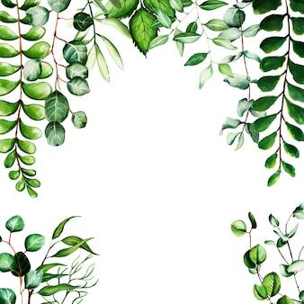 Fondo de hojas de acuarela hermosa