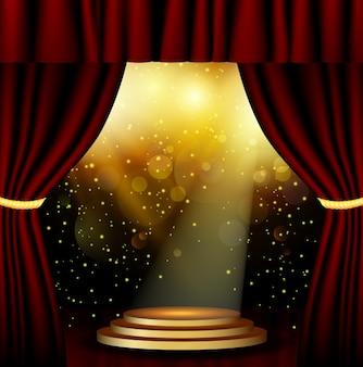 Fondo de iluminación de escenario