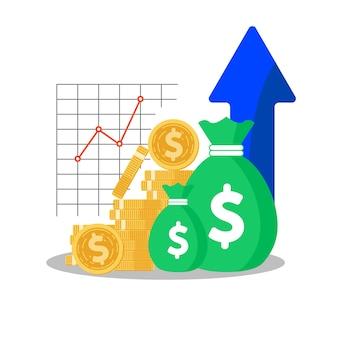 Fondo de inversión, aumento de los ingresos