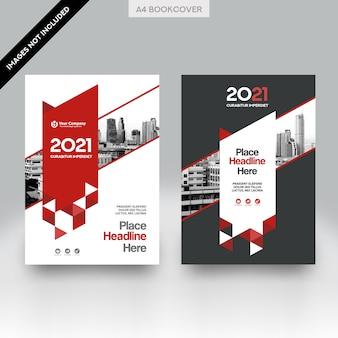 Fondo de la ciudad business book cover design vector template