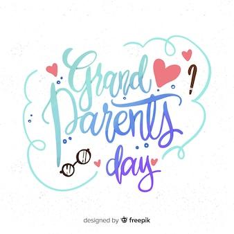 Fondo de lettering del día de los abuelos