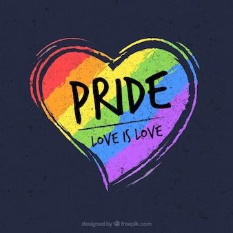 Fondo de lgtb pride con corazón