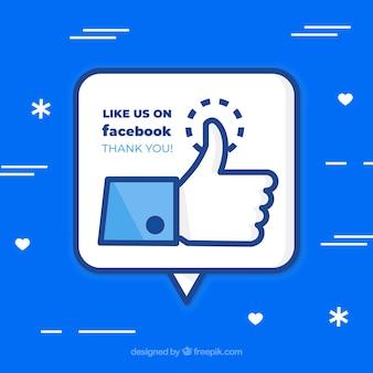 Fondo de likes de facebook
