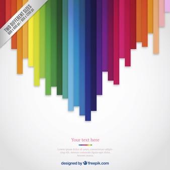 Fondo de líneas de colores