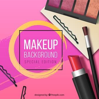 Fondo de maquillaje con estilo realista