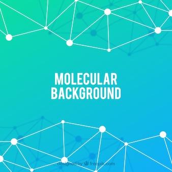 Fondo de molécula con estilo colorido