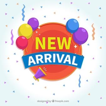 Fondo de nueva llegada con globos coloridos