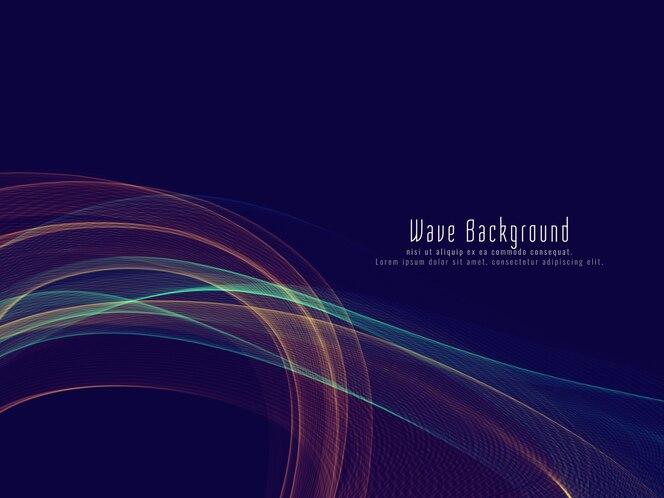 Fondo de onda brillante colorido con estilo abstracto