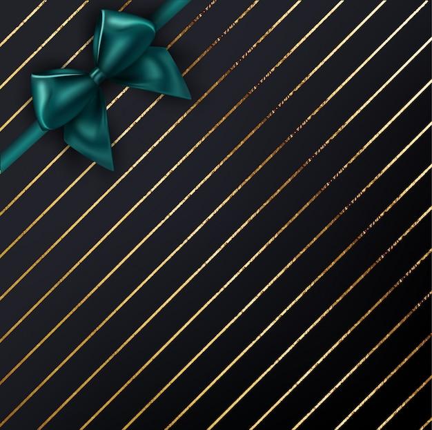 Fondo de oro de navidad con arco