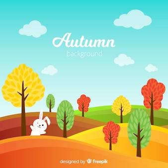 Fondo de otoño con bonitas hojas