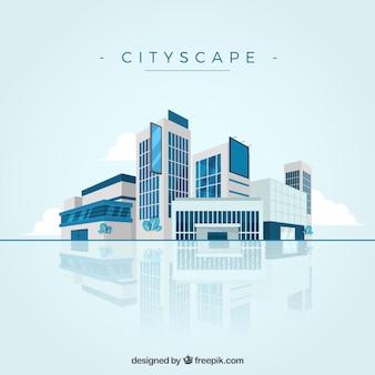 Fondo de paisaje de ciudad moderna