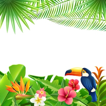Fondo de paisaje tropical