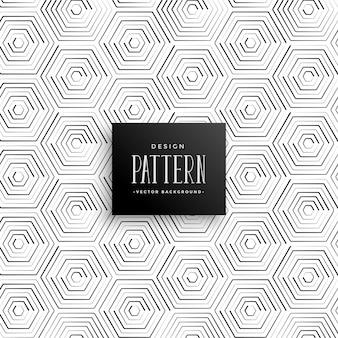 Fondo de patrón abstracto línea hexagonal