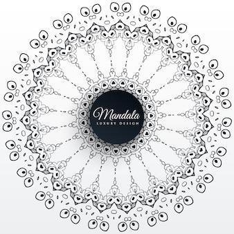 Fondo de patrón de diseño de decoración de mandala