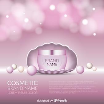 Fondo de producto cosmético