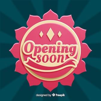 Fondo de próxima apertura con tipografía