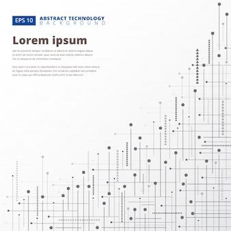 Fondo de puntos de líneas geométricas tecnología digital abstracto
