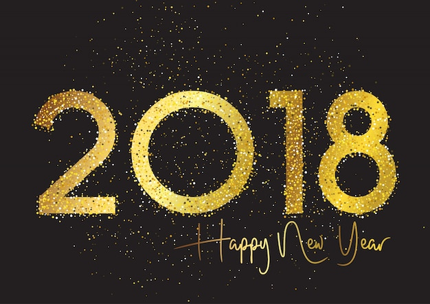 Fondo de purpurina feliz año nuevo